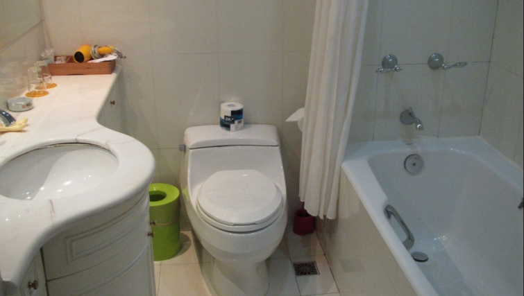 Practical bathroom in Ladoll Serviced Apartment