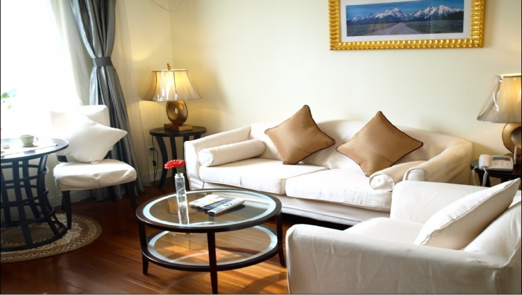 Elegant living area in Ladoll Serviced Apartment