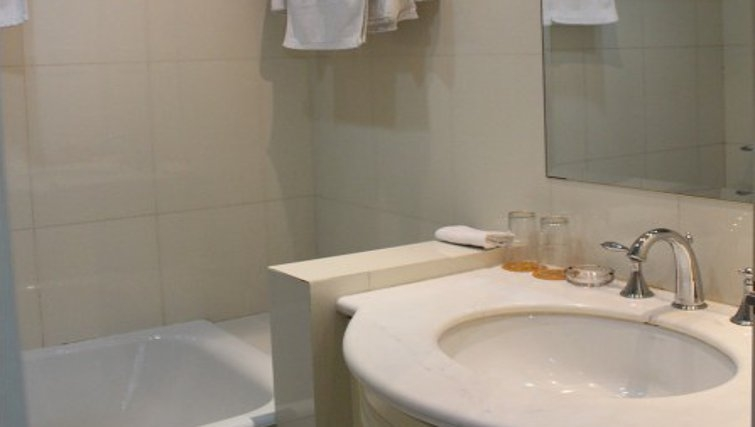 Pristine bathroom in Ladoll Serviced Apartment