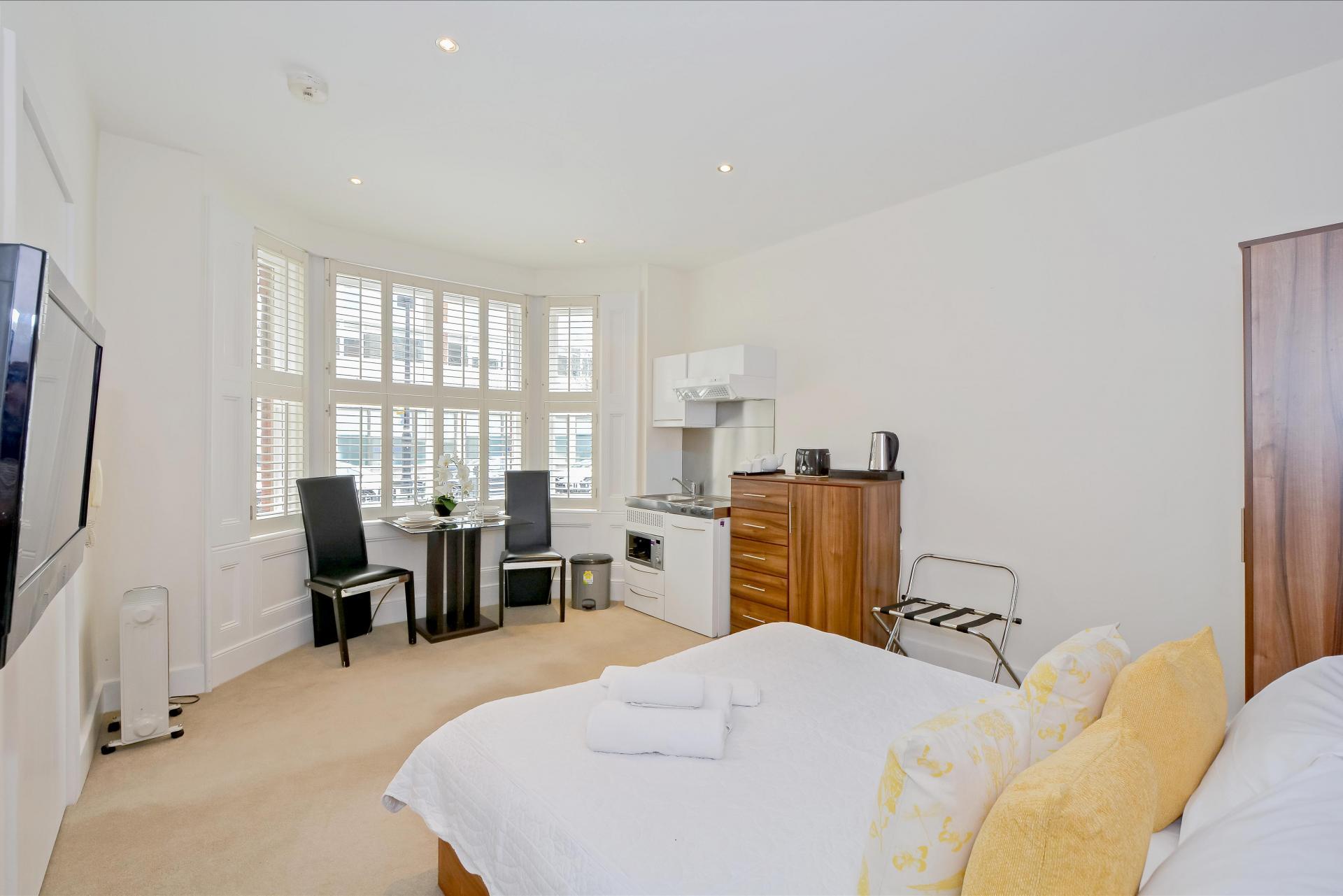 Window at LBS Apartments, Victoria, London