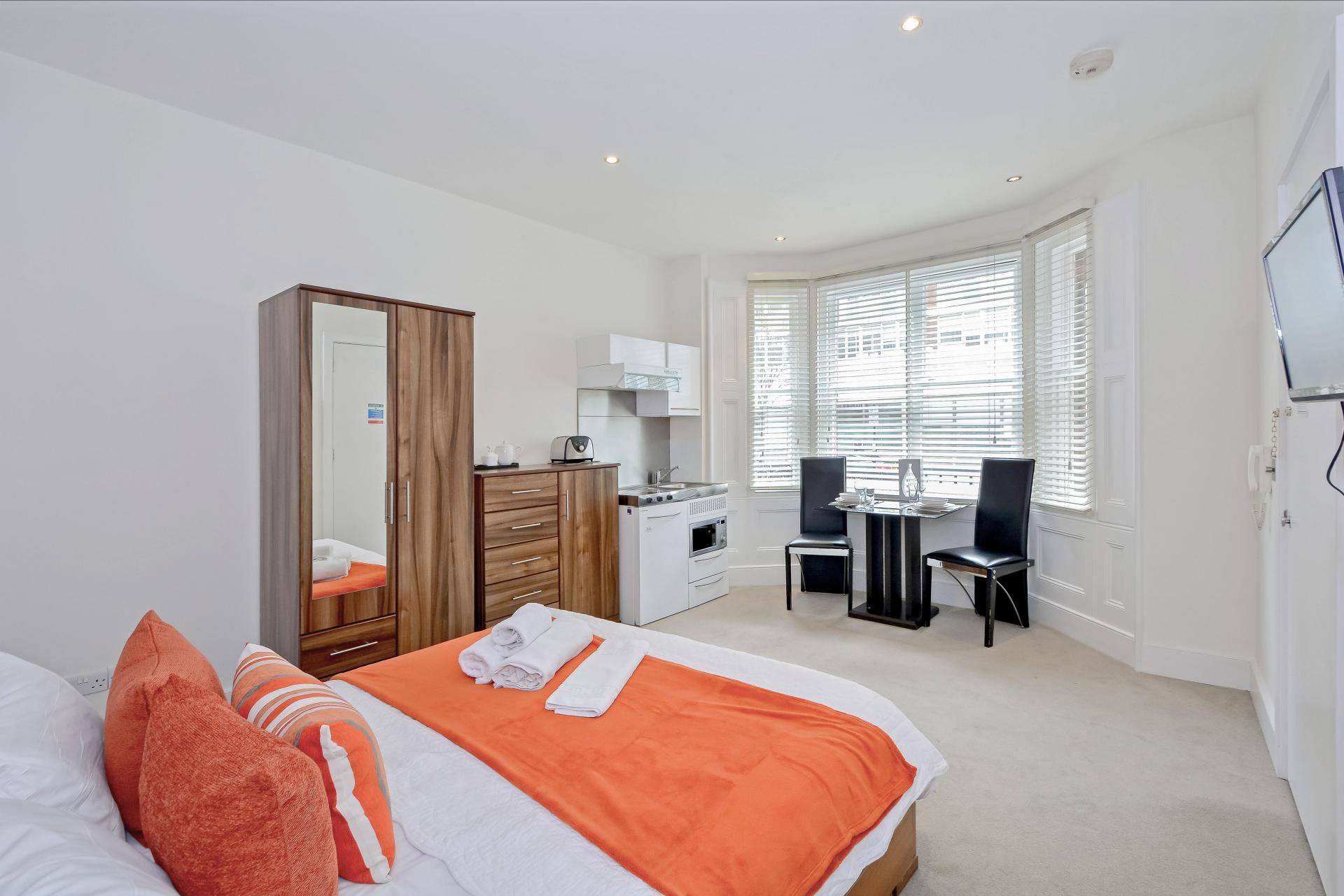 Orange at LBS Apartments, Victoria, London