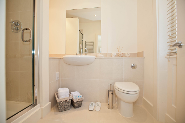 Shower at LBS Apartments, Victoria, London