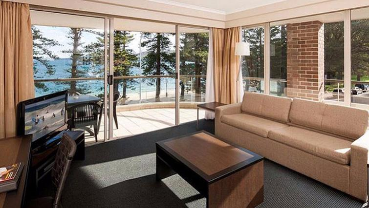 Delightful living area at Quest Manly
