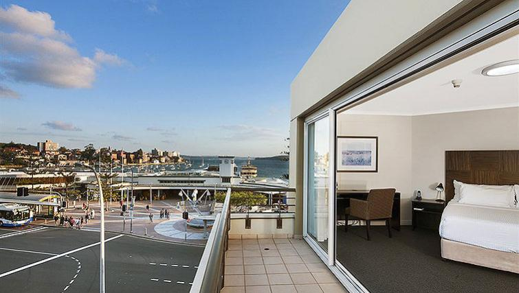 Private balcony at Quest Manly