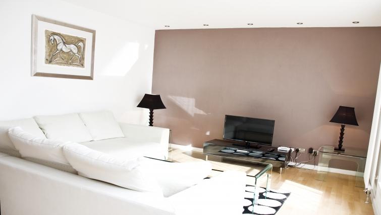 Corner sofa at Exchange Apartments
