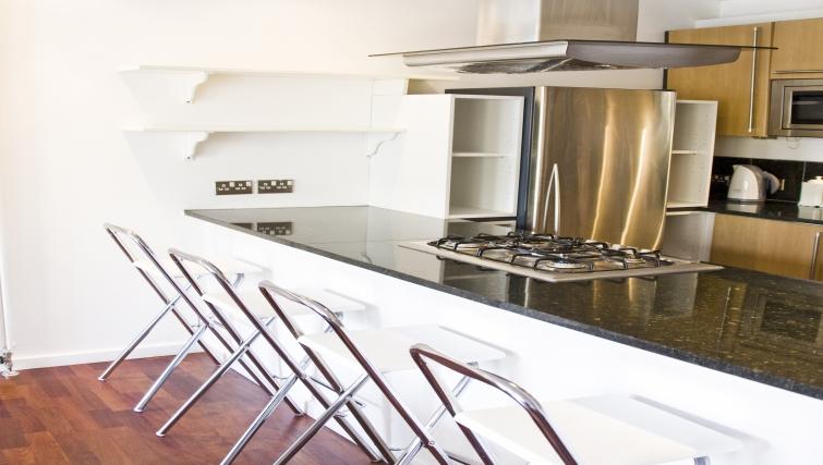 Modern kitchen at Exchange Apartments