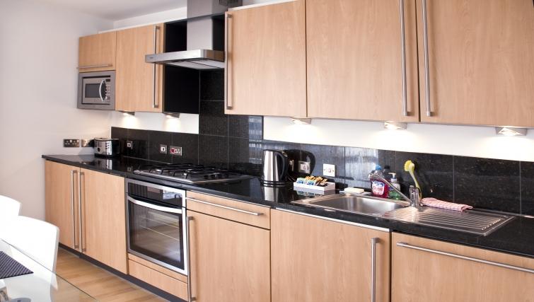 Kitchen at Exchange Apartments