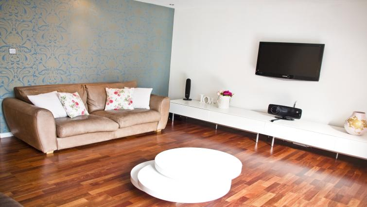 Living room at Exchange Apartments