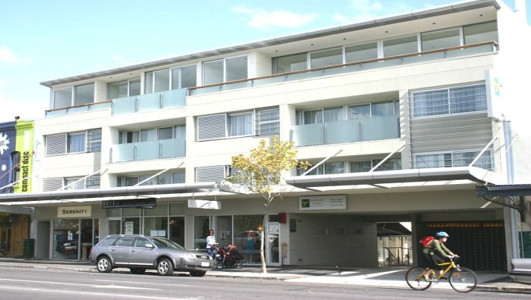 Welcoming exterior of Quest Ponsonby