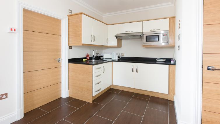 Stylish kitchen in Teddington Lodge Apartments