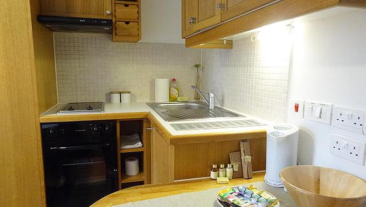 Compact kitchen in North Gower Apartments