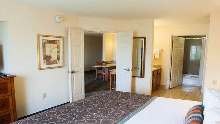 Relaxing bedroom in Staybridge Suites Houston West