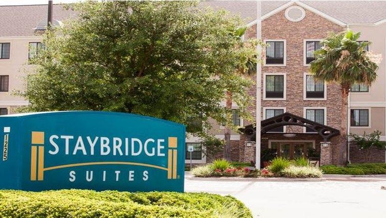 Welcoming exterior of Staybridge Suites Houston West