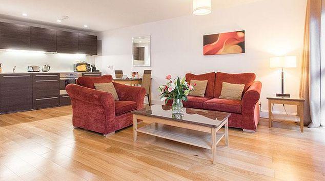 Living area at Premier Suites Plus Cabot Circus