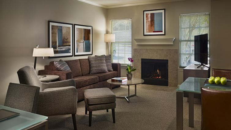 Charming living area in AVE Malvern Apartments