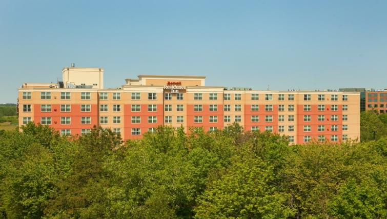 Grand exterior of Residence Inn Boston Woburn