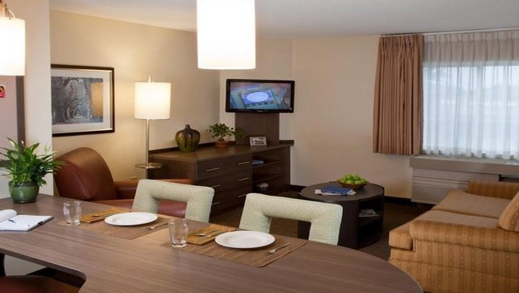 Stylish living area in Candlewood Suites Miami Airport West
