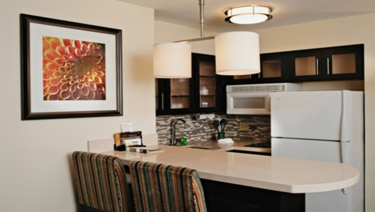 Practical kitchen in Staybridge Suites Dallas-Las Colinas