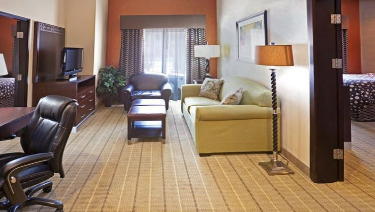 Bright living area in Staybridge Suites DFW Airport North