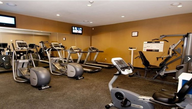 Equipped gym in Staybridge Suites DFW Airport North