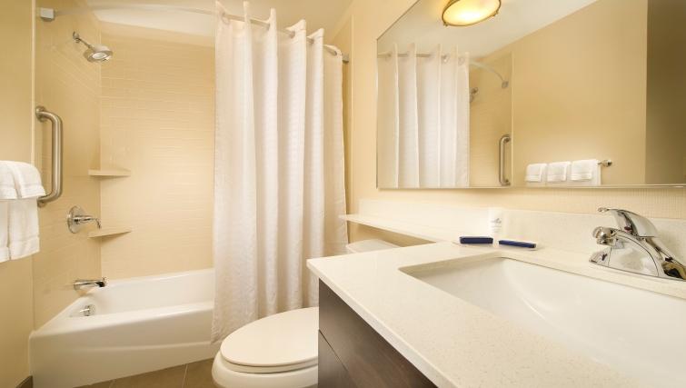 Pristine bathroom in Candlewood Suites Alexandria-Fort Belvoir