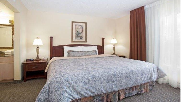 Comfortable bedroom in Staybridge Suites Denver CO Tech