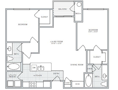 Floor plan 2 at AVE Union Apartments