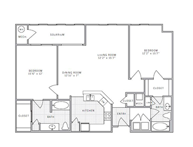 Floor plan 3 at AVE Union Apartments