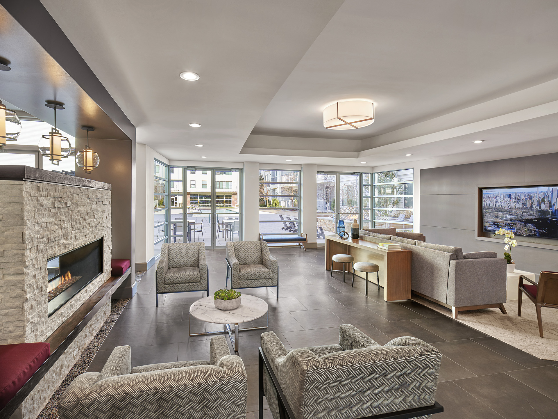 Lobby at AVE Union Apartments, Centre, Union