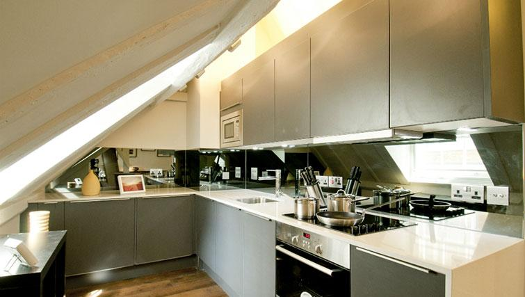 Modern kitchen in Native Cannon Street Apartments