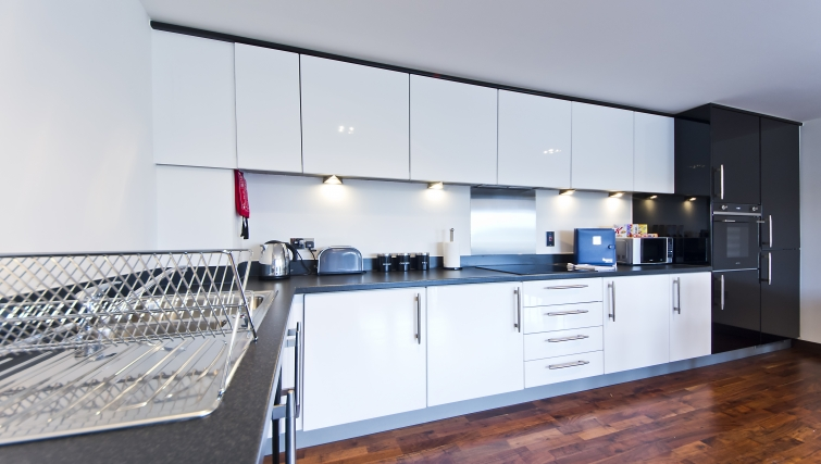 Bright kitchen in Kings Island Apartments