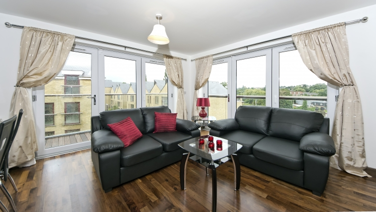Tasteful living area in Kings Island Apartments