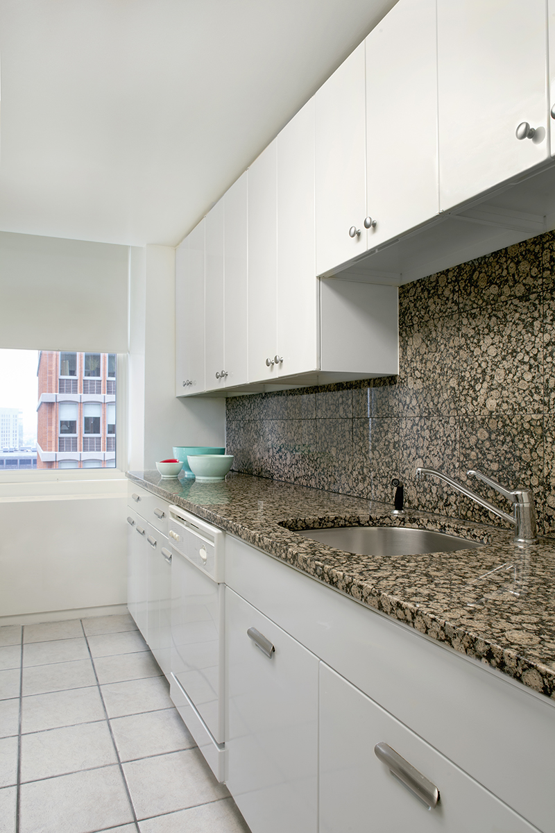 Kitchen at Prudential Center Apartments