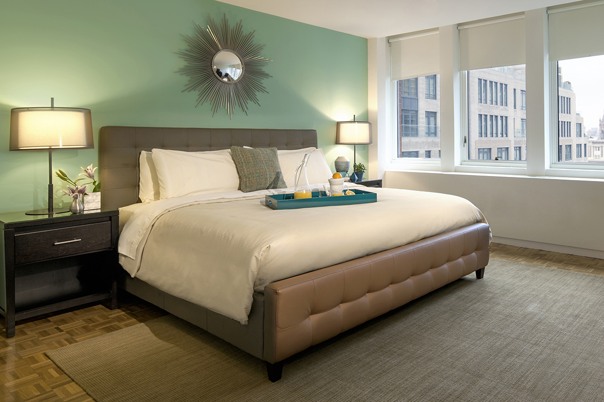 Bedroom at Prudential Center Apartments