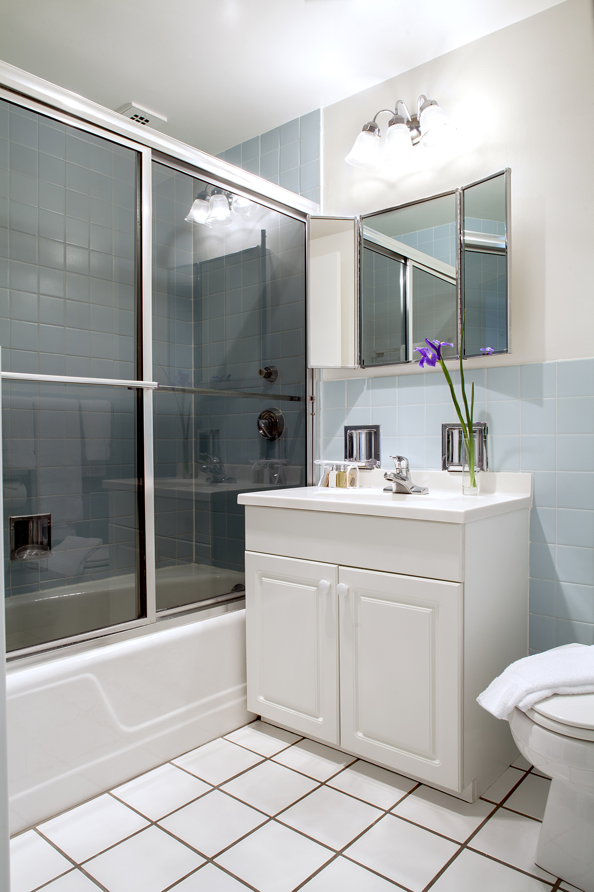 Bathroom at Prudential Center Apartments