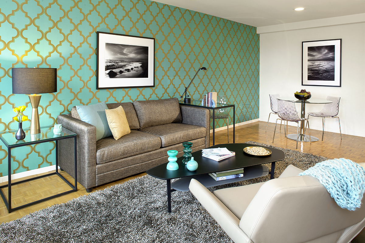 Lounge at Prudential Center Apartments