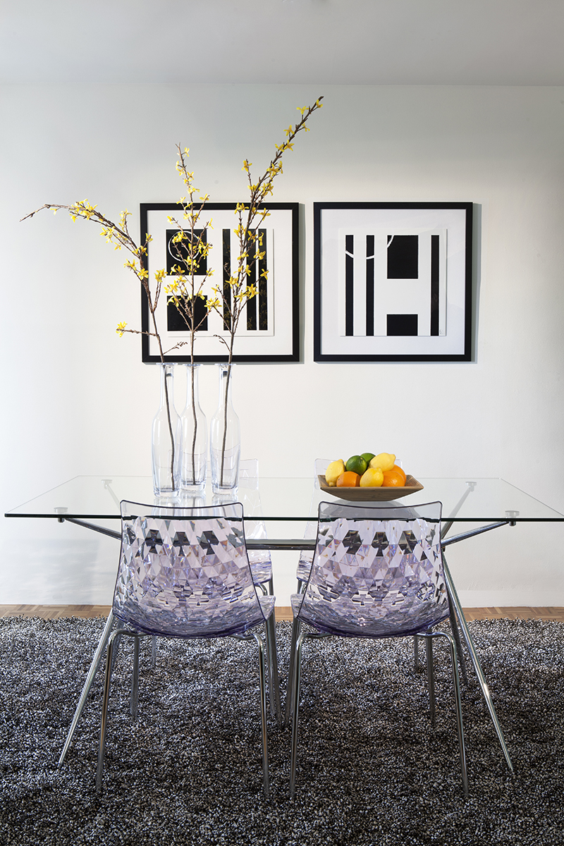 Dining table at Prudential Center Apartments