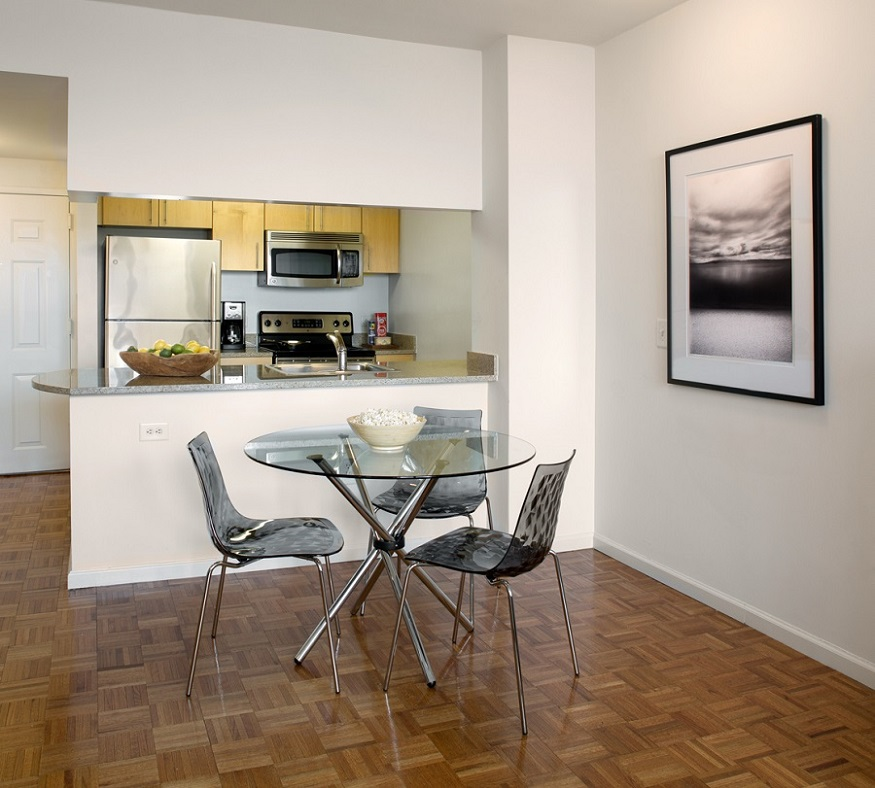 Kitchen at Grove Pointe, The Waterfront, Jersey City