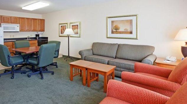 Practical living area in Staybridge Suites Houston Willowbrook