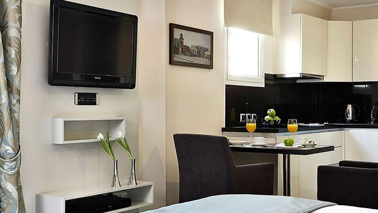 Kitchen at AVA Hotel Apartments and Suites