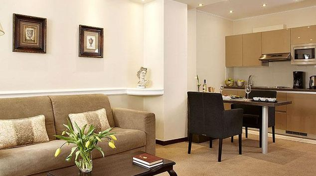 Gorgeous living area in AVA Hotel Apartments and Suites