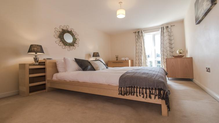 Bed at Trevelyan Court Apartment