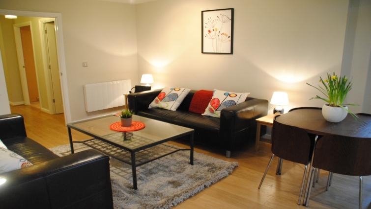 Stylish living area iat Trevelyan Court Apartment