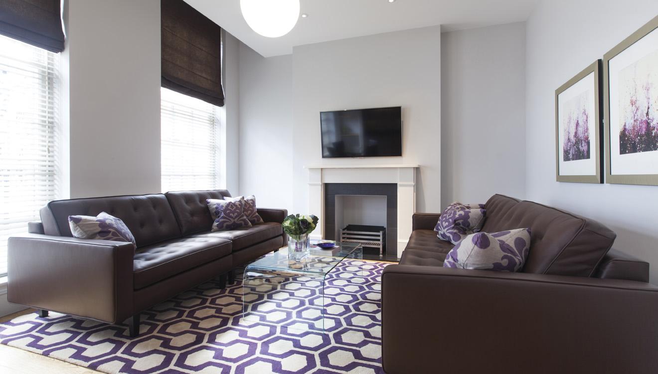 Living room at AKA Marylebone