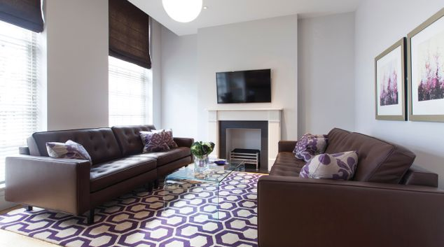 Living room at AKA Marylebone
