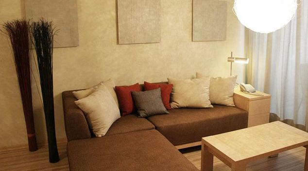 Comfortable living area in Almond Apartments Cyprus