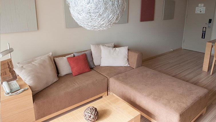 Corner sofa at Almond Apartments Cyprus