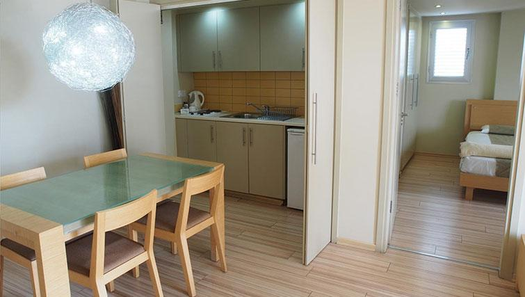 Kitchen/dining area at Almond Apartments Cyprus