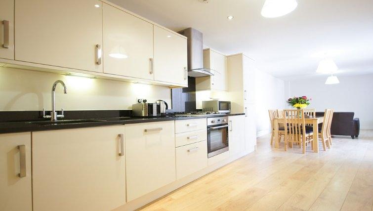 Elegant kitchen at Crompton House Apartments