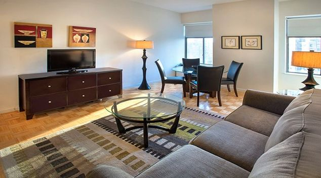 Desirable living area in Archstone Midtown West Apartments